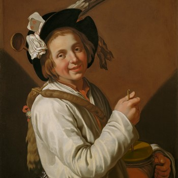 Boy with rumbling pot